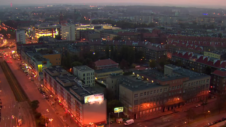 Szczecin city connects life with light
