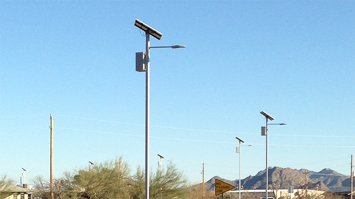 Philips Hadco Solar Pathway Lighting at the Gila River Indian Community