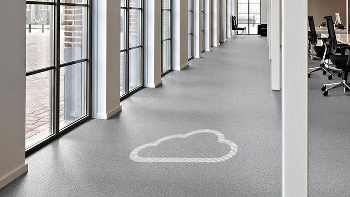 Philips Lighting's Luminous flooring connect to your building management system with cloud-based management