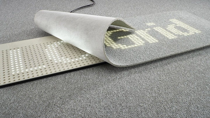 Philips Lighting's Luminous flooring: Project dynamic messages with the LC Grid LED floor panel