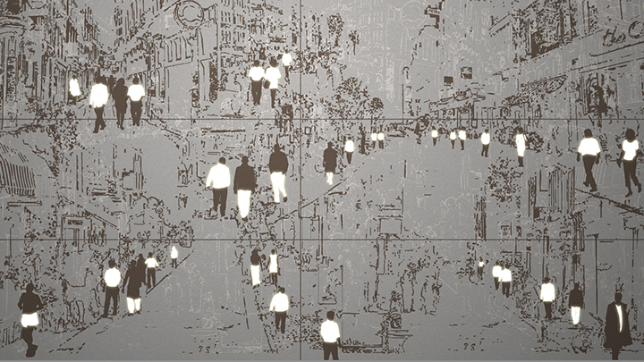 Philips Lighting's Luminous pattern in Streets of makes a statement in any interior lighting design