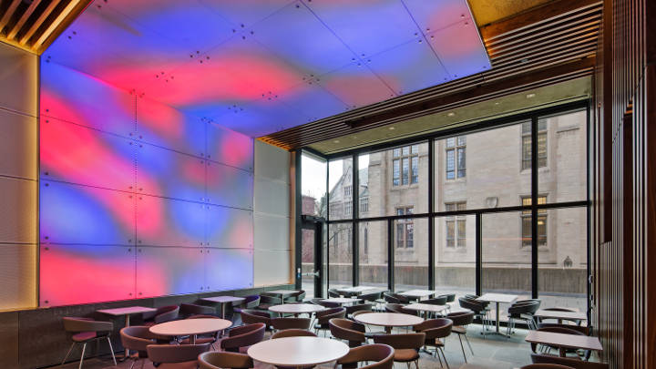 Philips lighting at Yale ground café
