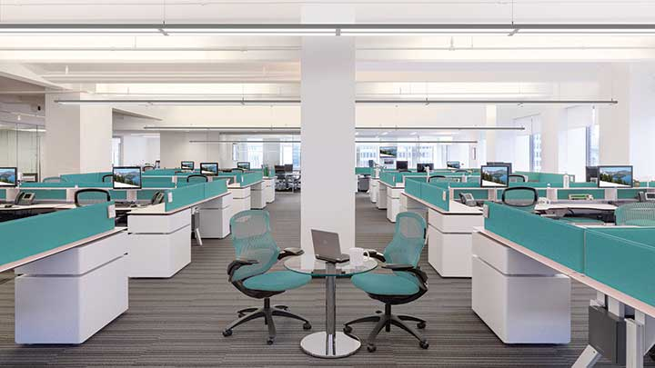 Philips Ledalite LED Suspended Luminaire Open Office Application with Downlight Distribution