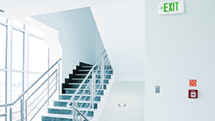 Philips Chloride Compac LED exit & emergency hallway application