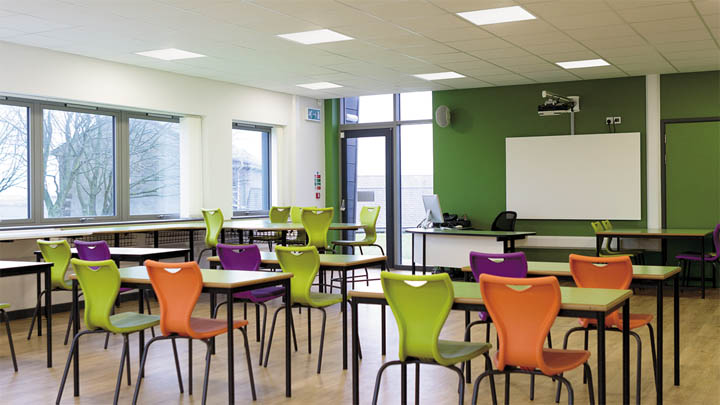 Philips Day-Brite FluxPanel LED School Application