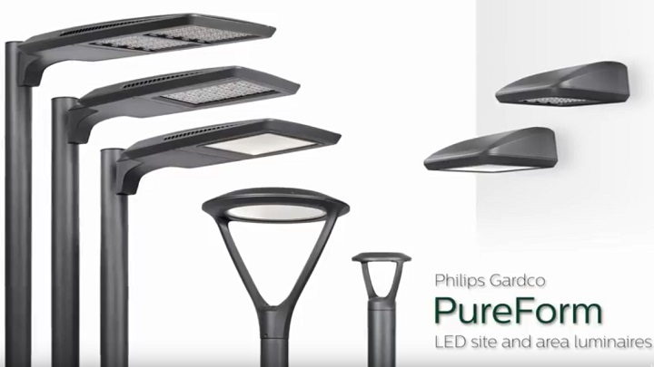 LED outdoor lighting | Philips Gardaco PureForm LED site and area luminraies