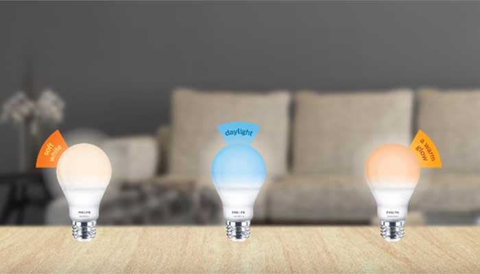 Three light settings in one bulb. Bright and warm living room lighting | Philips SceneSwitch