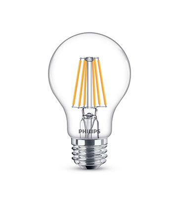 Clear Glass Dimmable Filament LED A19 Bulb