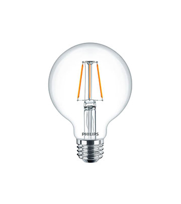 Clear Glass Dimmable Filament LED G25 Globe 5w