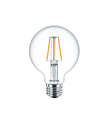 Clear Glass Dimmable Filament LED G25 Globe
