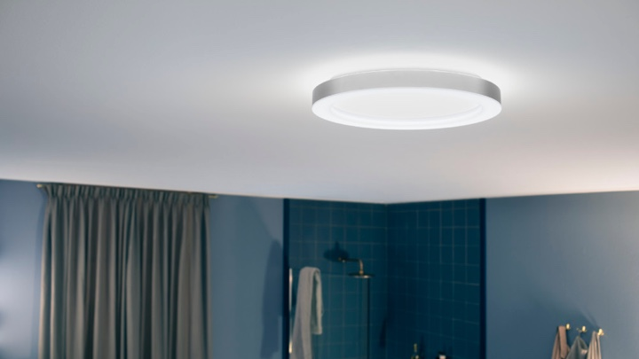 Ceiling light in the bathroom